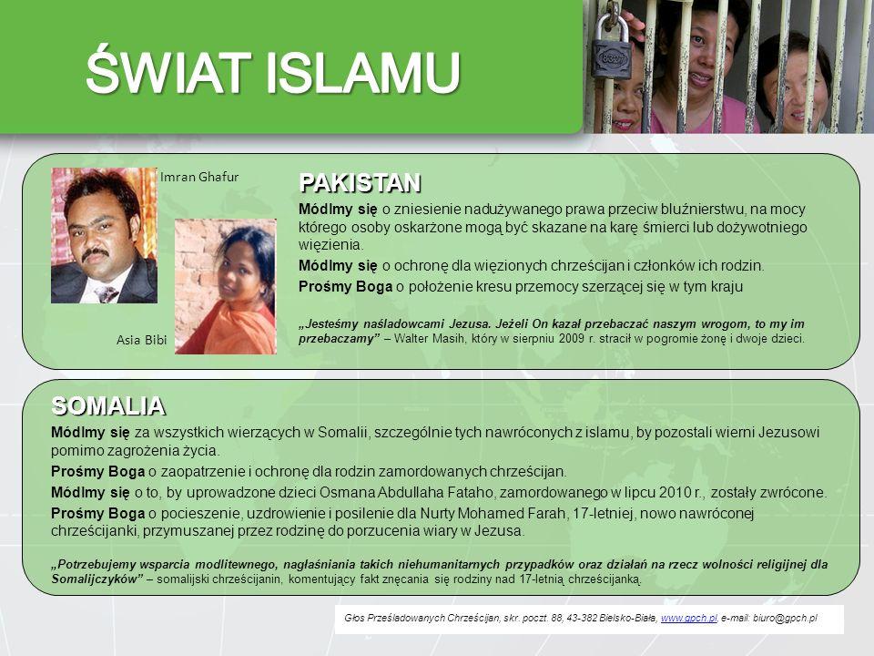 ŚWIAT ISLAMU PAKISTAN SOMALIA Imran Ghafur