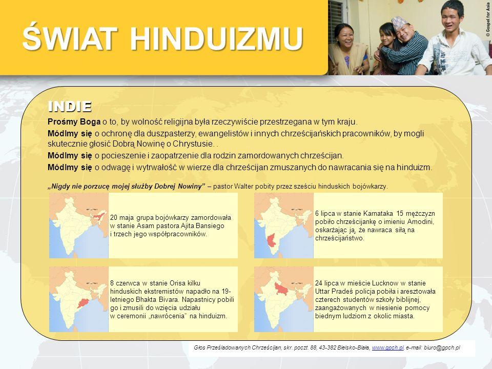 ŚWIAT HINDUIZMU INDIE. Prośmy Boga o to, by wolność religijna była rzeczywiście przestrzegana w tym kraju.