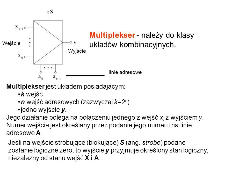 Multiplekser - należy do klasy układów kombinacyjnych.