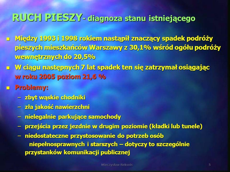 RUCH PIESZY- diagnoza stanu istniejącego