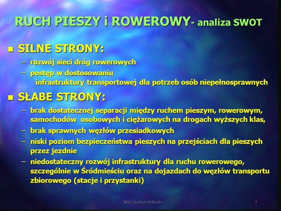 RUCH PIESZY i ROWEROWY- analiza SWOT