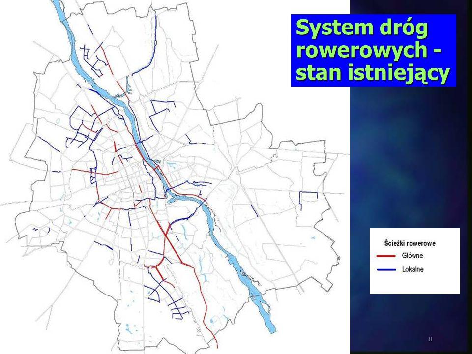 System dróg rowerowych - stan istniejący