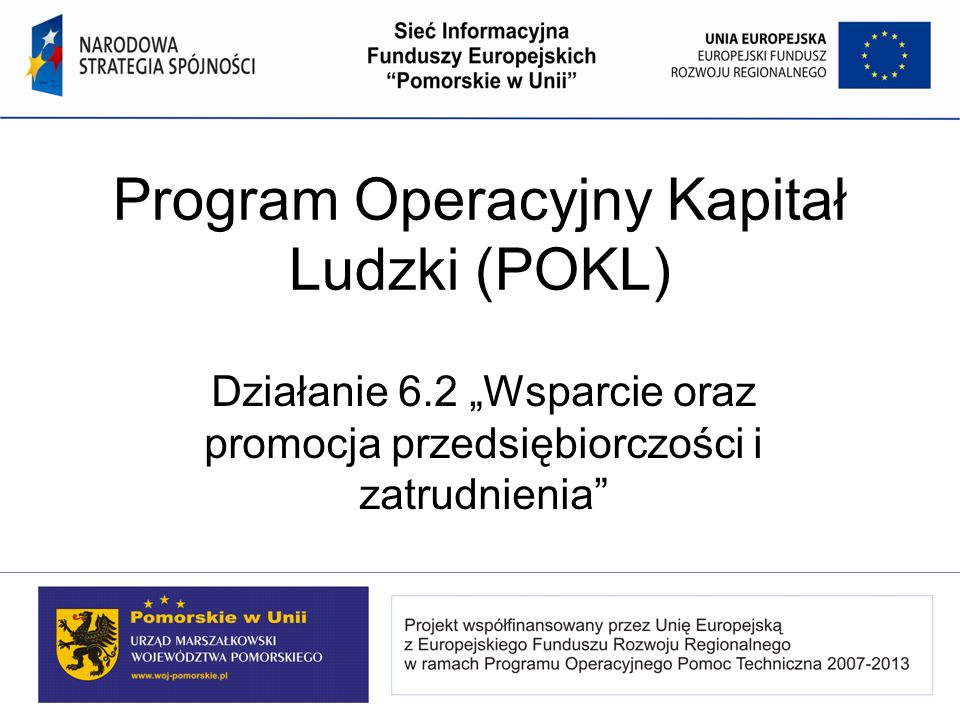 Program Operacyjny Kapitał Ludzki (POKL)
