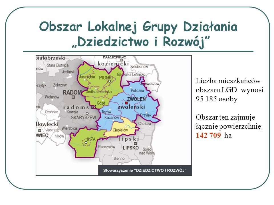 """Obszar Lokalnej Grupy Działania """"Dziedzictwo i Rozwój"""