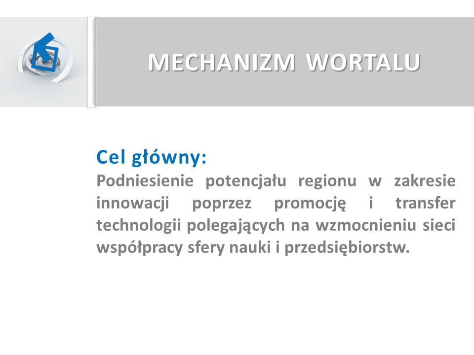 MECHANIZM WORTALU Cel główny: