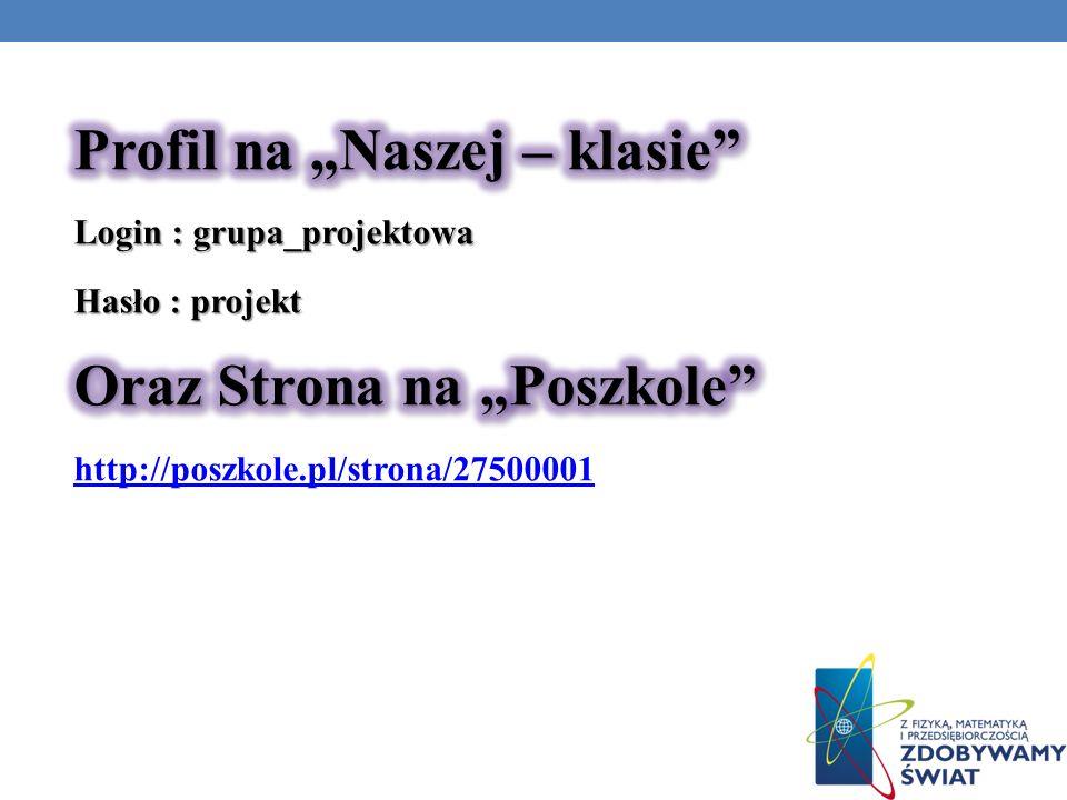 """Profil na """"Naszej – klasie"""