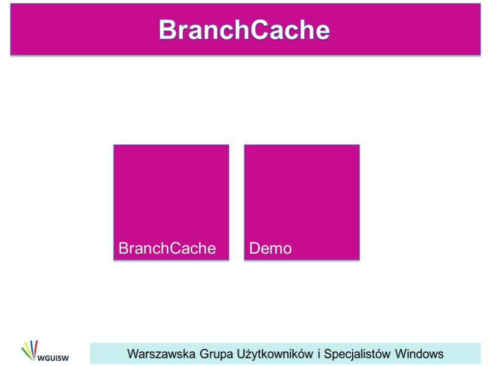 BranchCache BranchCache Demo