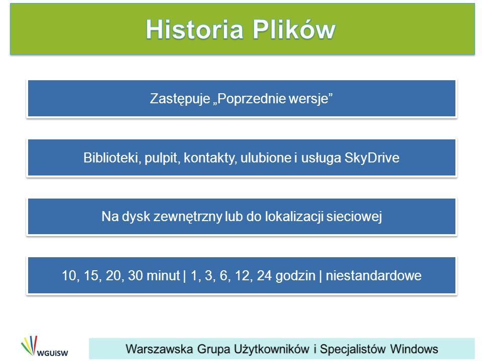 """Historia Plików Zastępuje """"Poprzednie wersje"""