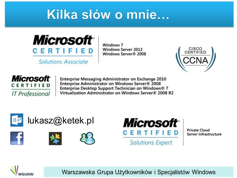 Kilka słów o mnie… lukasz@ketek.pl