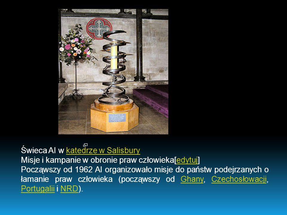 Świeca AI w katedrze w Salisbury
