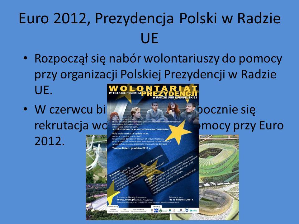 Euro 2012, Prezydencja Polski w Radzie UE