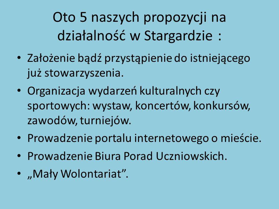 Oto 5 naszych propozycji na działalność w Stargardzie :