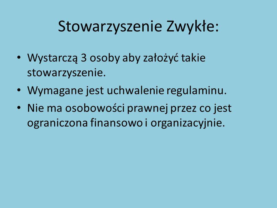 Stowarzyszenie Zwykłe:
