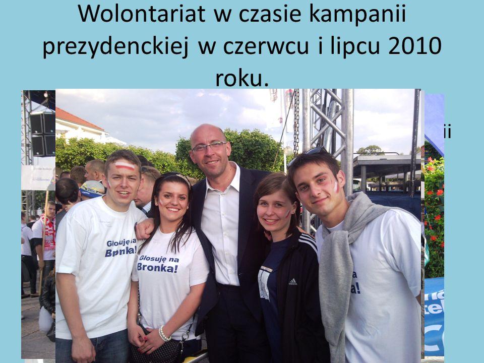 Wolontariat w czasie kampanii prezydenckiej w czerwcu i lipcu 2010 roku.