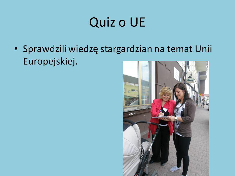 Quiz o UE Sprawdzili wiedzę stargardzian na temat Unii Europejskiej.