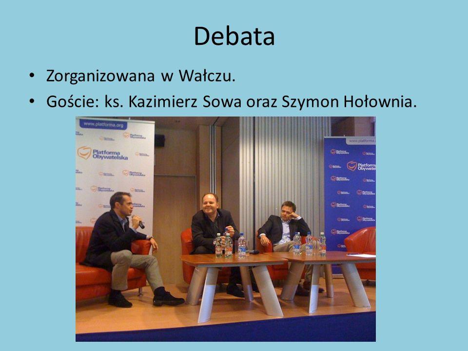 Debata Zorganizowana w Wałczu.