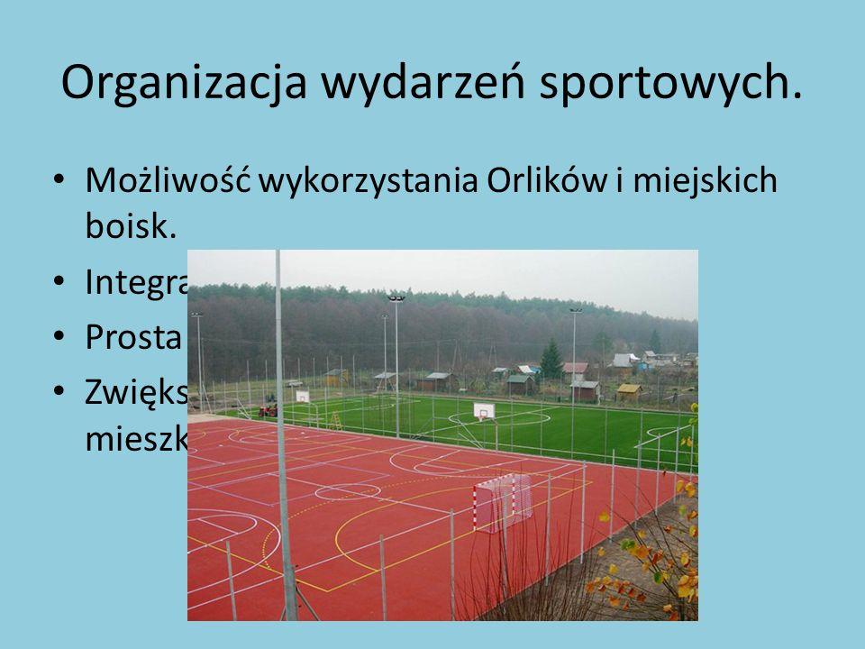 Organizacja wydarzeń sportowych.