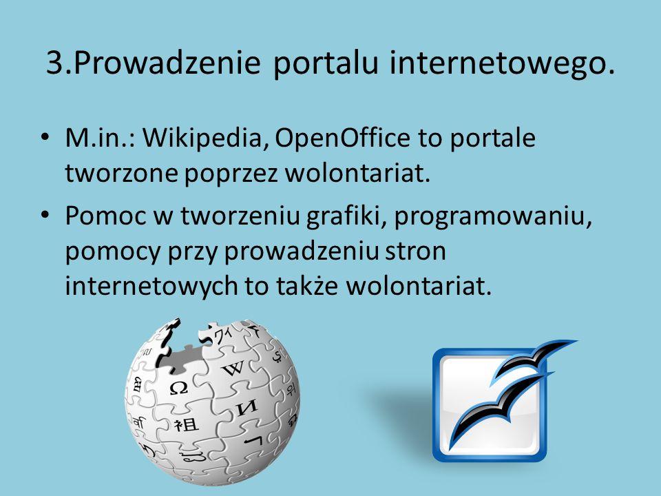 3.Prowadzenie portalu internetowego.