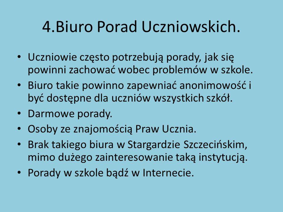 4.Biuro Porad Uczniowskich.
