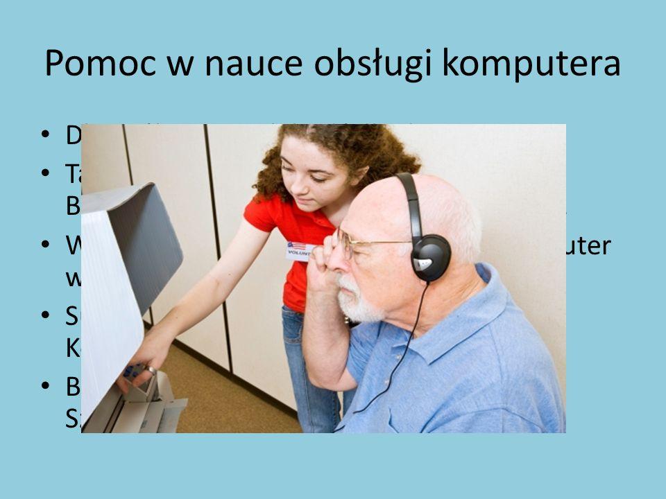 Pomoc w nauce obsługi komputera