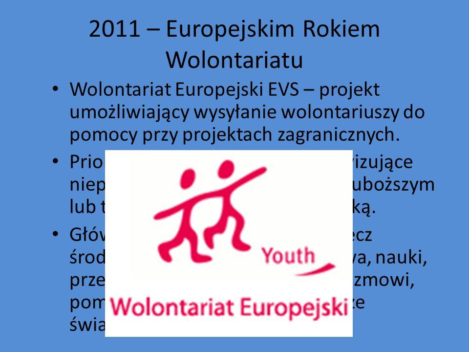 2011 – Europejskim Rokiem Wolontariatu