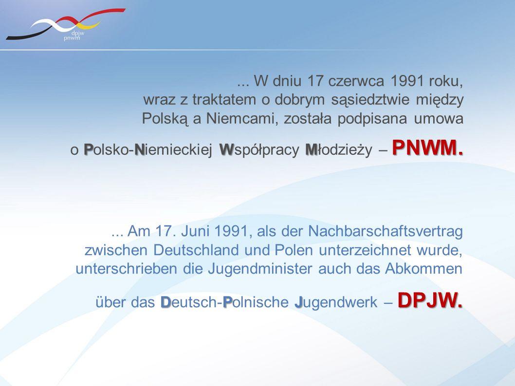 ... W dniu 17 czerwca 1991 roku, wraz z traktatem o dobrym sąsiedztwie między Polską a Niemcami, została podpisana umowa