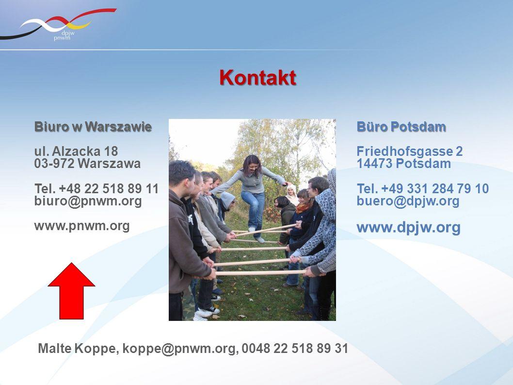 Kontakt www.dpjw.org Biuro w Warszawie ul. Alzacka 18 03-972 Warszawa