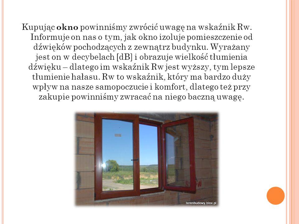 Kupując okno powinniśmy zwrócić uwagę na wskaźnik Rw