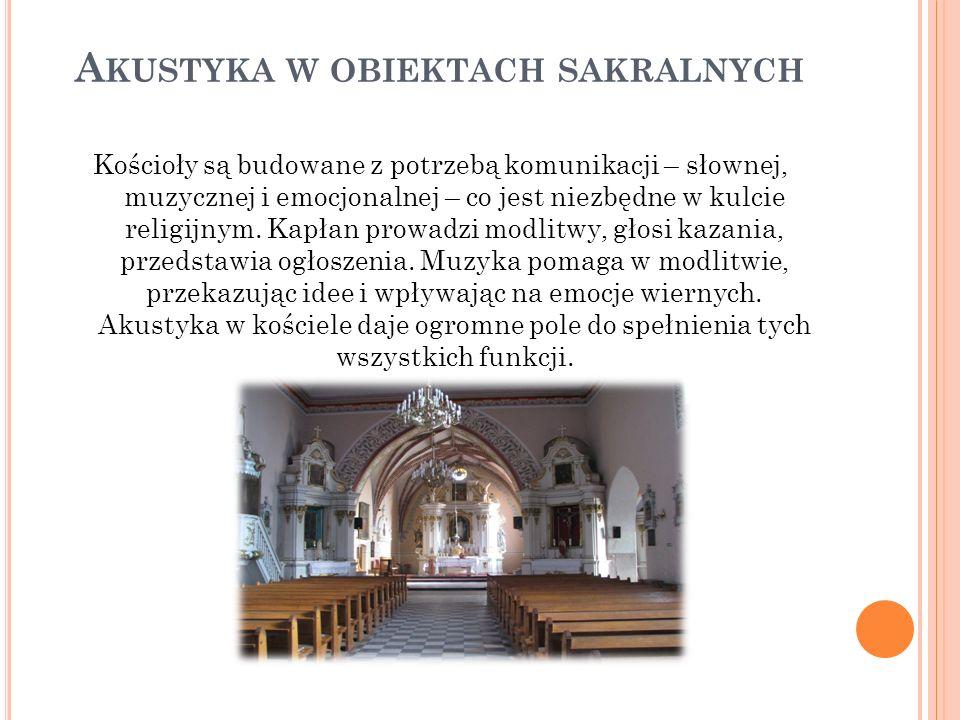Akustyka w obiektach sakralnych