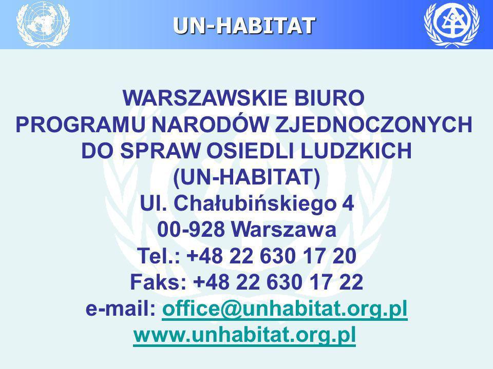 PROGRAMU NARODÓW ZJEDNOCZONYCH DO SPRAW OSIEDLI LUDZKICH (UN-HABITAT)