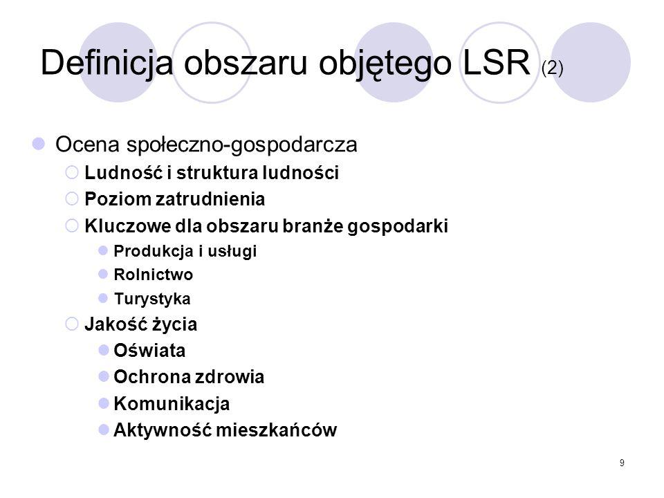 Definicja obszaru objętego LSR (2)