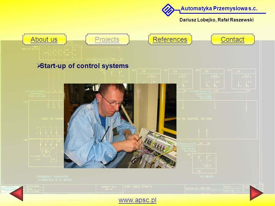 Start-up of control systems