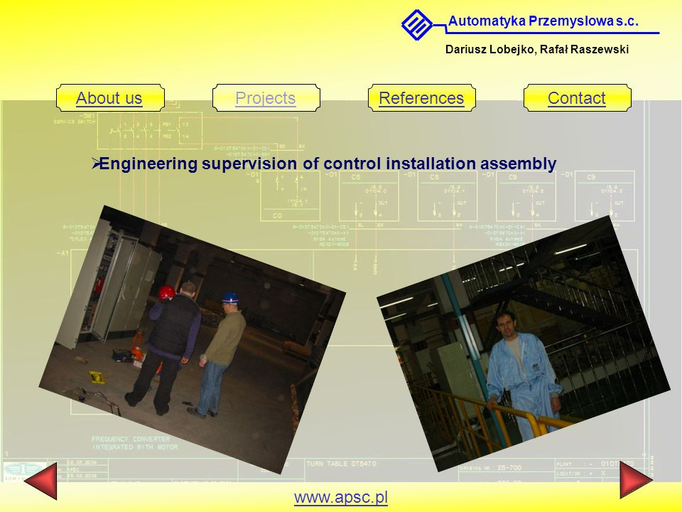 Engineering supervision of control installation assembly