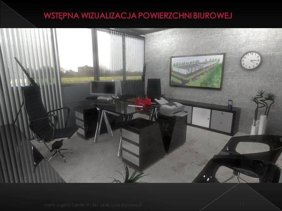 Wstępna wizualizacja powierzchni biurowej