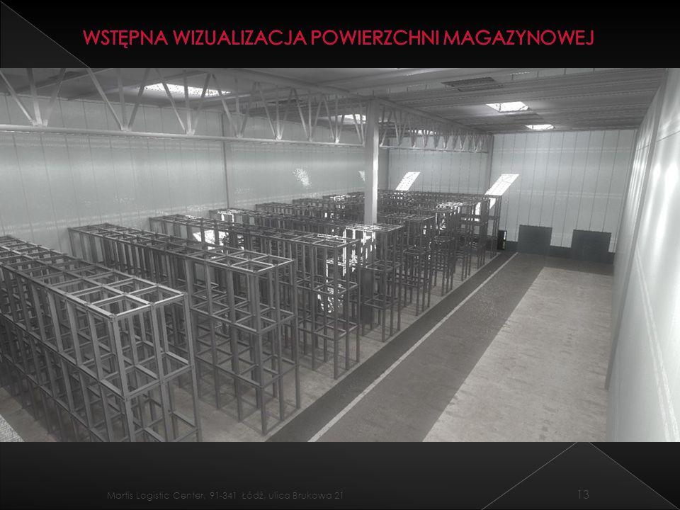 Wstępna wizualizacja powierzchni magazynowej