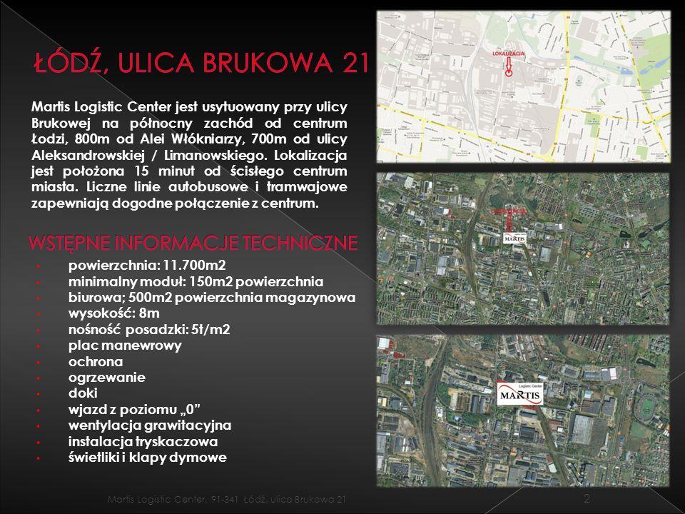 Łódź, ulica brukowa 21 Wstępne informacje techniczne