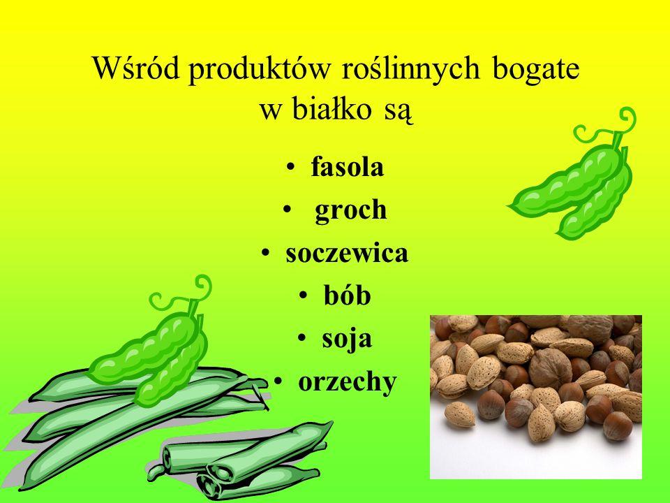 Wśród produktów roślinnych bogate w białko są