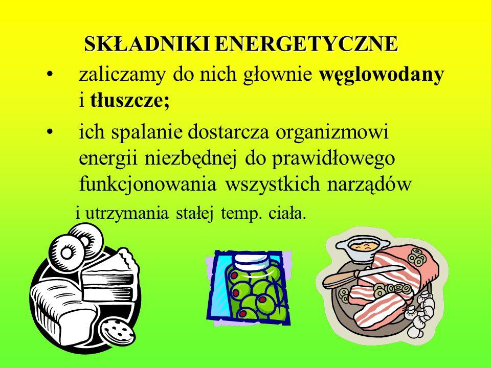 SKŁADNIKI ENERGETYCZNE