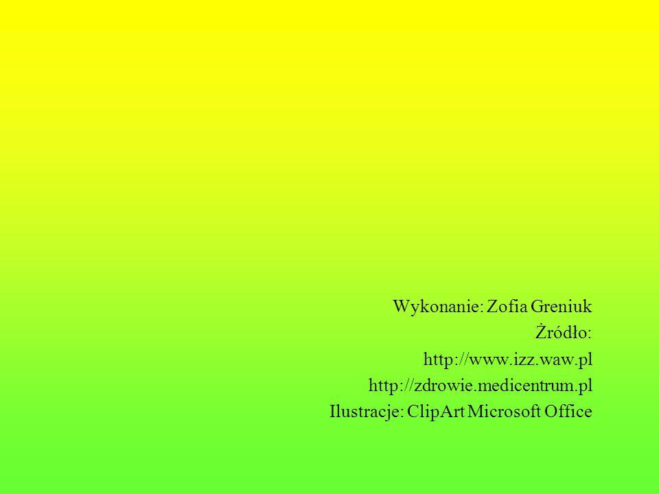 Wykonanie: Zofia Greniuk