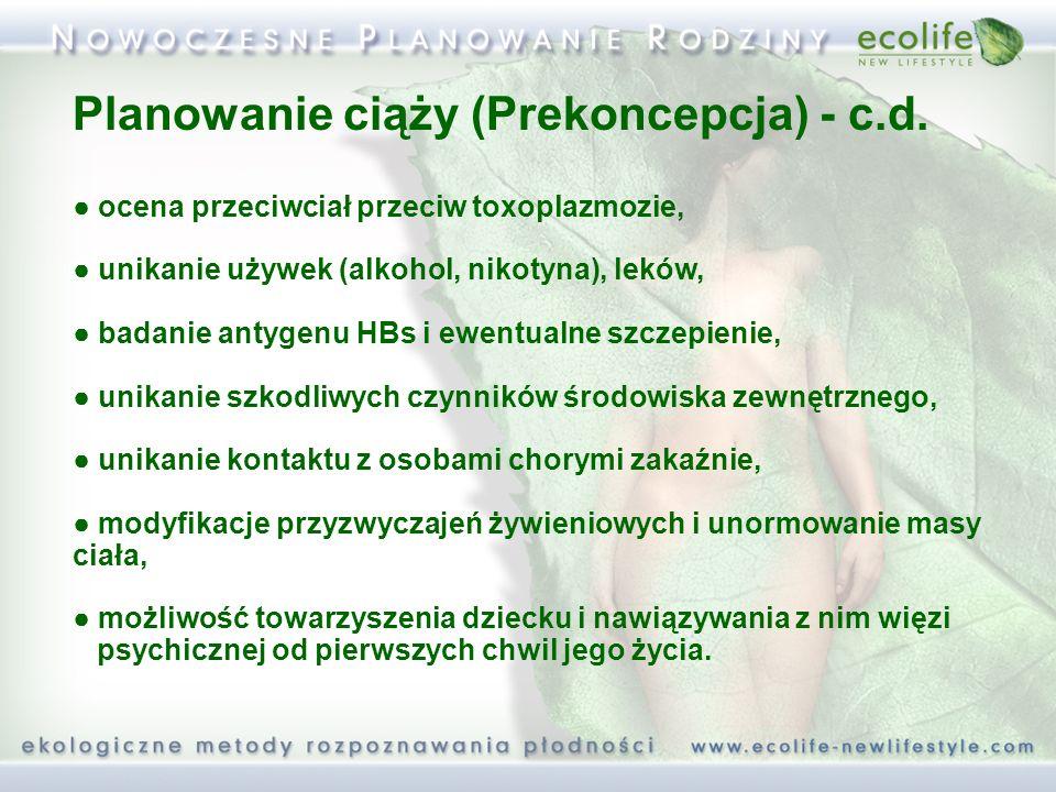 Planowanie ciąży (Prekoncepcja) - c.d.