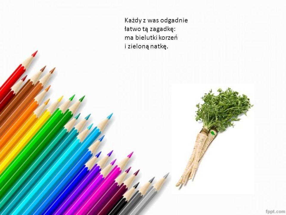 Każdy z was odgadnie łatwo tą zagadkę: ma bielutki korzeń i zieloną natkę.