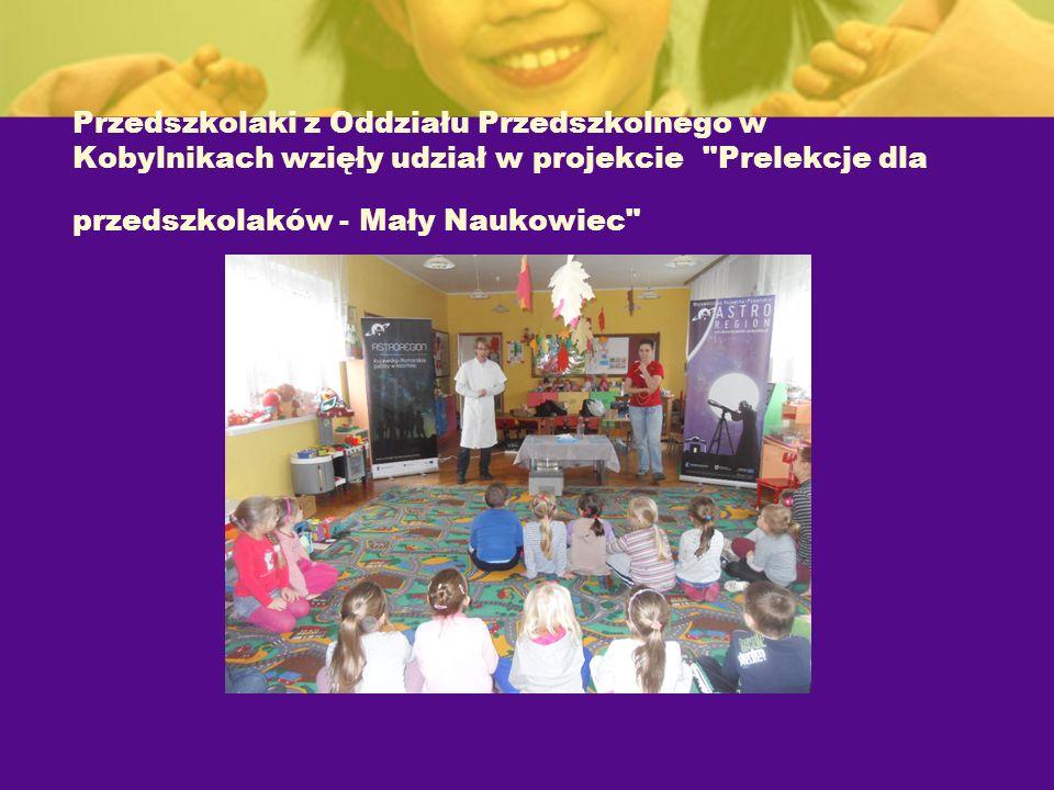 Przedszkolaki z Oddziału Przedszkolnego w Kobylnikach wzięły udział w projekcie Prelekcje dla przedszkolaków - Mały Naukowiec