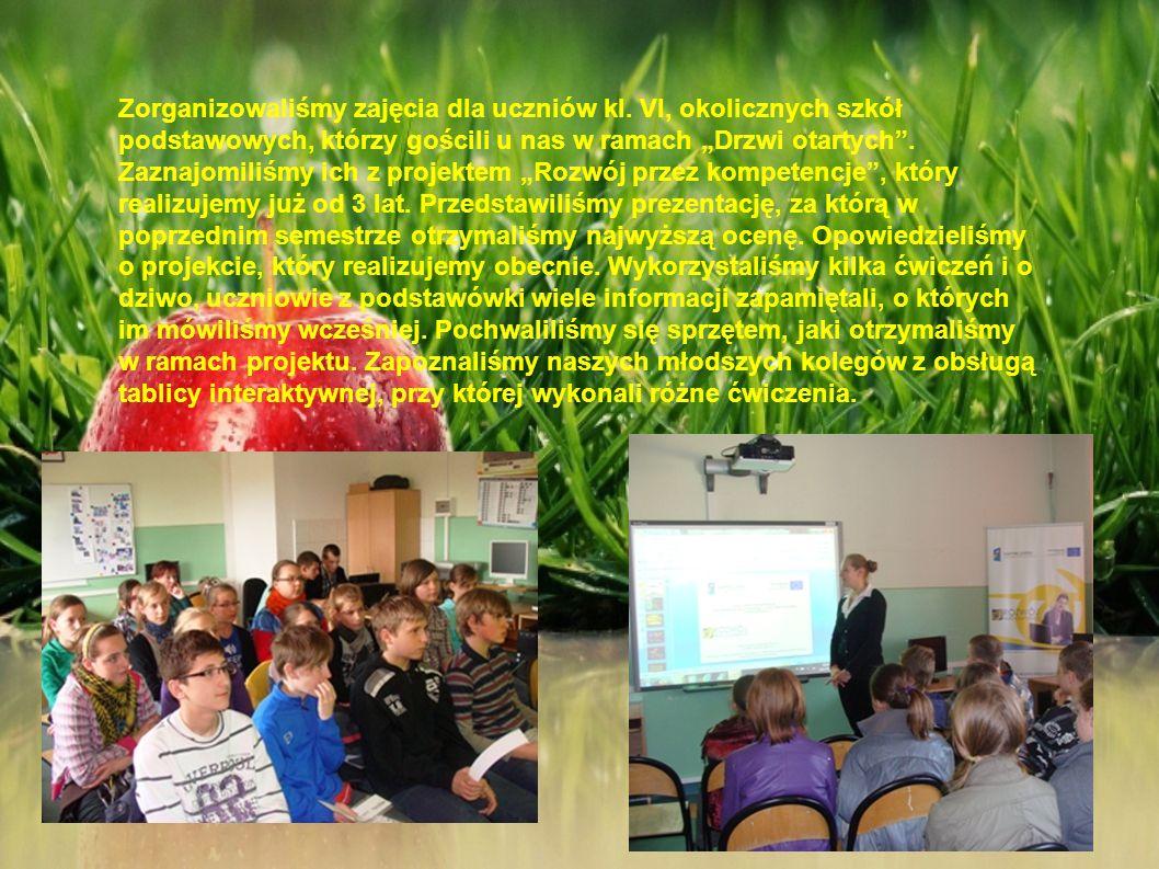 Zorganizowaliśmy zajęcia dla uczniów kl