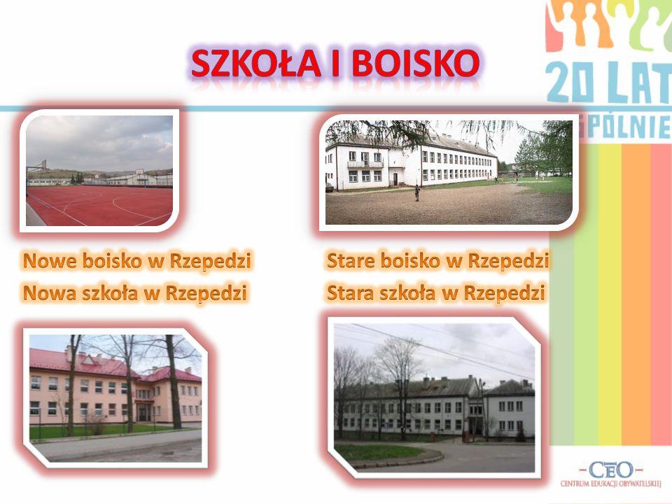 Szkoła I BOISKO Nowe boisko w Rzepedzi Stare boisko w Rzepedzi