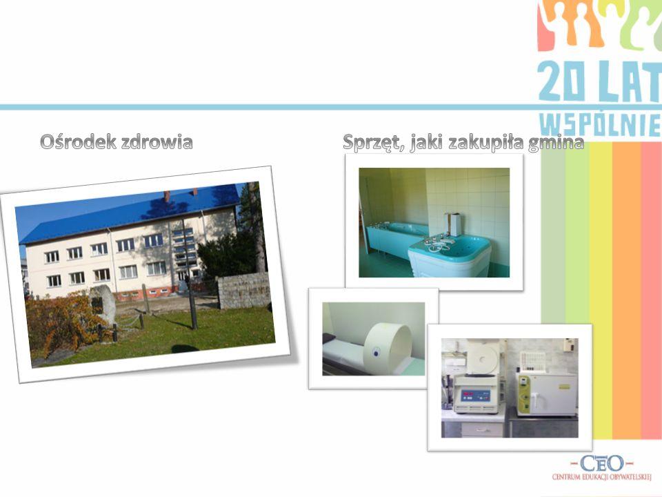 Ośrodek zdrowia Sprzęt, jaki zakupiła gmina