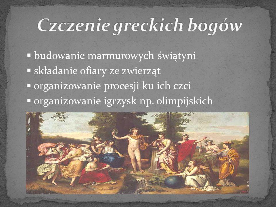 Czczenie greckich bogów