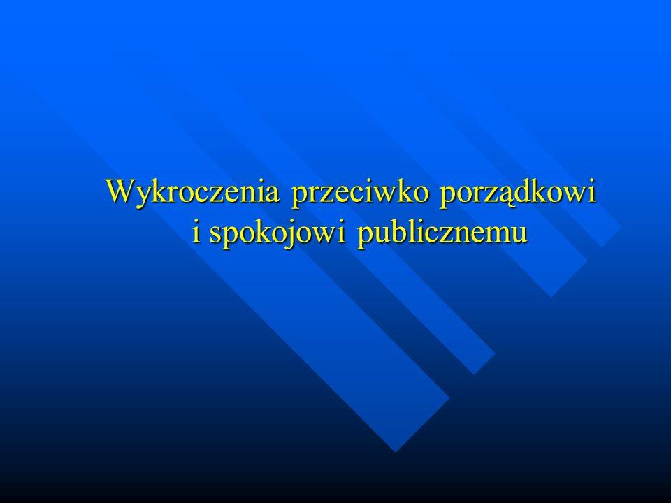 Wykroczenia przeciwko porządkowi i spokojowi publicznemu