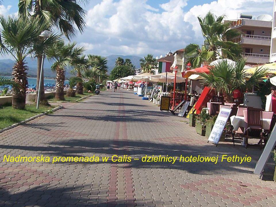 Nadmorska promenada w Calis – dzielnicy hotelowej Fethyie