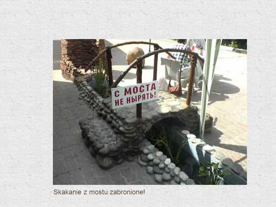 Skakanie z mostu zabronione!