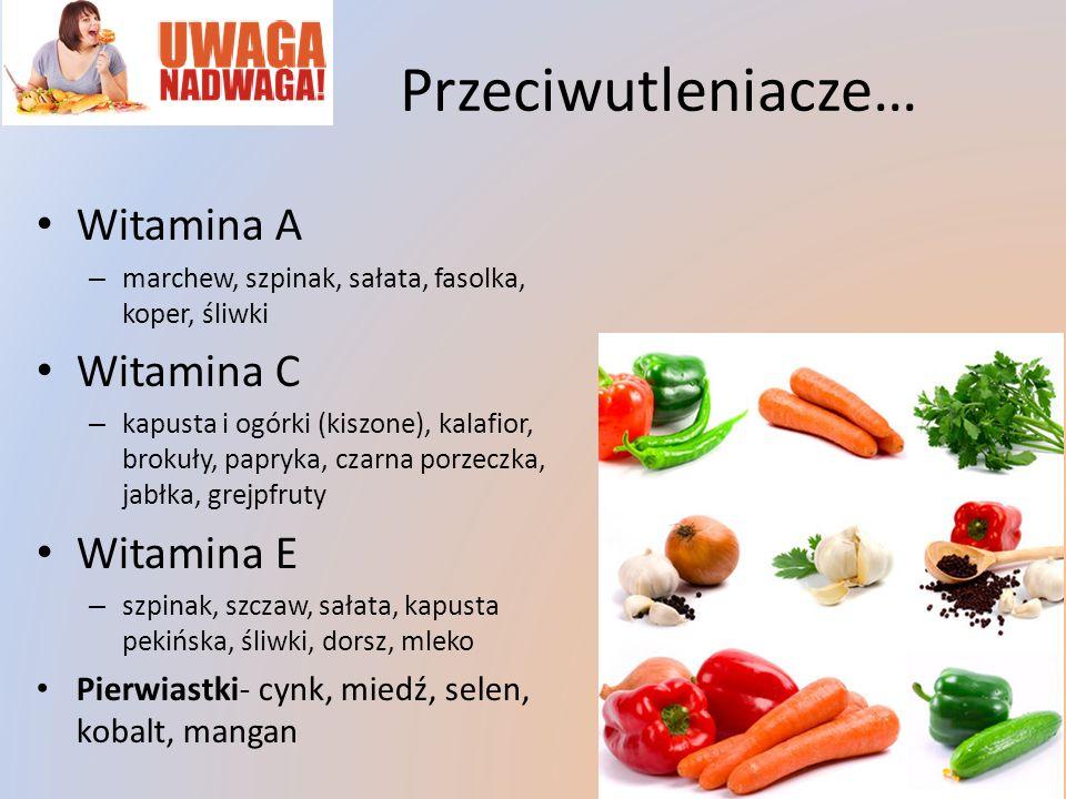 Przeciwutleniacze… Witamina A Witamina C Witamina E